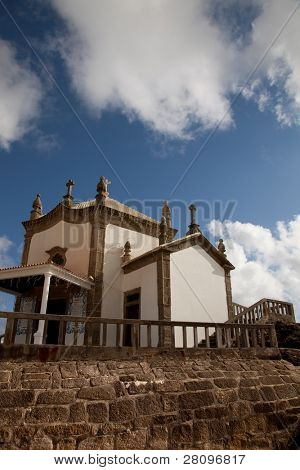 Senhora da Pedra chapel at the coast of Miramar, Gaia, Portugal