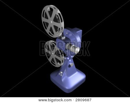Blue Film Projector