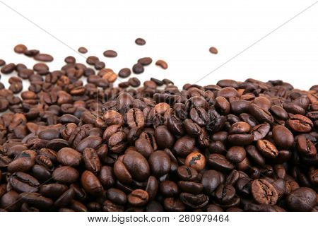 Coffee Beans Isolated On White Stock Photos