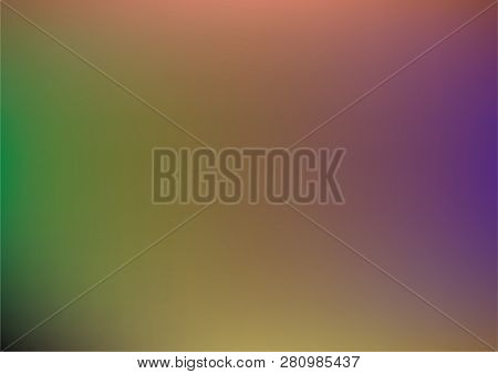 Overlay Holographic Neon Vector Background. Iridescent Gradient Funky Music Cover, Poster Texture. T