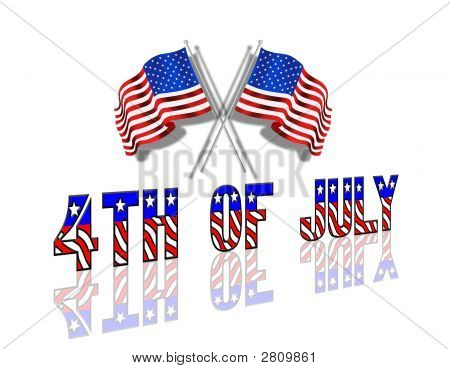 July 4Th Flags Graphic