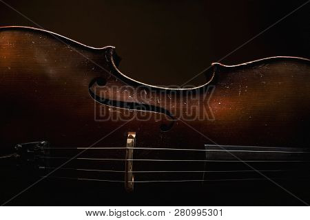 Old Wooden Cello