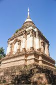 Tilokarat chedi of Wat Ched Yot temple in Chiang Mai, Thailand. poster
