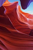 Scenic color slot Antelope canyon . Navajo Reservation, USA poster