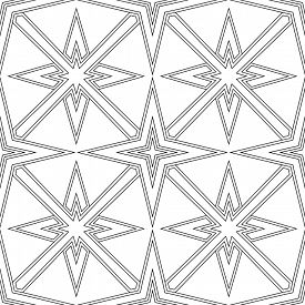 Abstract seamless black and white pattern - illustration