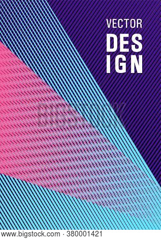 Halftone Lines Texture Vector Print Background. Advertising Publication Backdrop. Poster Linear Mini