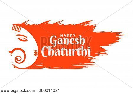 Indian Lord Ganesha Festival Card In Creative Style