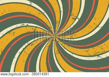 Abstract Grunge Retro Twirl Spiral Line Pattern Background
