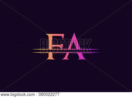 Minimal Fa Letter Linked Logo For Business And Company Identity. Creative Letter Fa Logo Vector Temp
