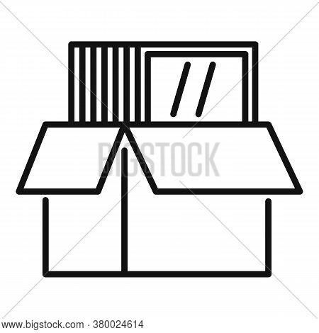Windows Installation Box Icon. Outline Windows Installation Box Vector Icon For Web Design Isolated