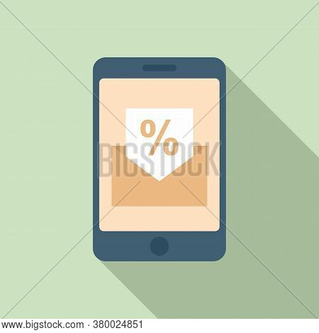 Conversion Rate Smartphone Icon. Flat Illustration Of Conversion Rate Smartphone Vector Icon For Web