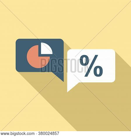 Conversion Rate Chat Icon. Flat Illustration Of Conversion Rate Chat Vector Icon For Web Design