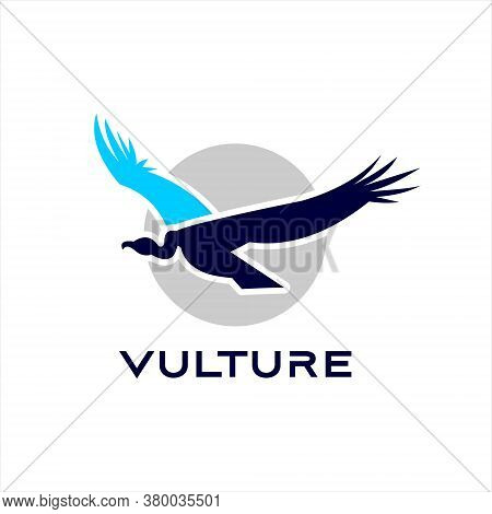 Vulture Logo Flying Bird Animal Vector Design Element Template