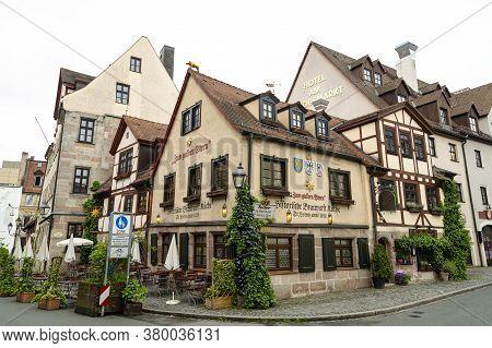 Zum Gulden Stern, Nuremberg, Germany - Apr 27, 2014: The Oldest Bratwurst Tavern Existing In One Pla