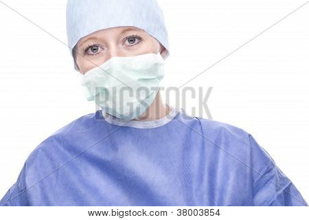 Young Doctor, Surgeon Or Nurse Woman