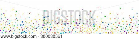 Festive Popular Confetti. Celebration Stars. Festive Confetti On White Background. Adorable Festive