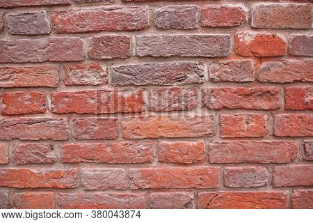 Brickwall Texture.masonry Brickwork Background Close Up.old Red Brick Wall.