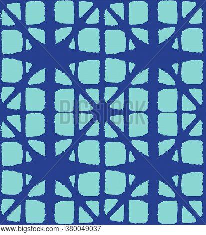 Japanese Tie Dye Seamless Pattern. Organic Shibori Seamless Pattern. Geometric Bohemian Asian Tie Dy