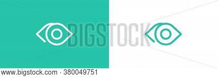 Optician Creative Symbol Concept. Minimalistic Logo Design Template For Medical Care. Eye Icon.