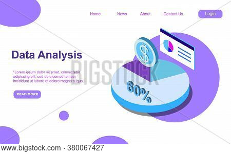 Landing Page.concept Business Strategy. Analysis Data And Investment. Business Success. Financial Re