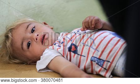 Aleppo, Syria September 27, 2019:\\\\nyoung Children Are Treated In The Hospital.