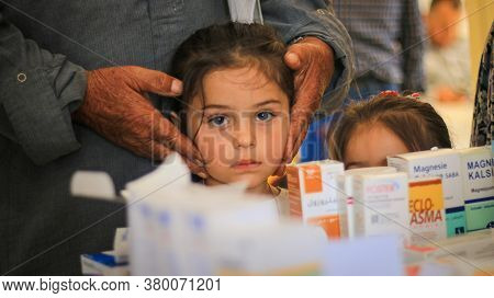 Aleppo, Syria September 27, 2019:\\nyoung Children Are Treated In The Hospital.