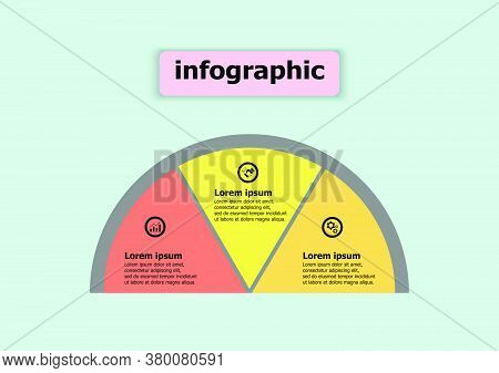 The Semicircle Vector Design Template For Illustration. Planning Presentation Business Infographic T