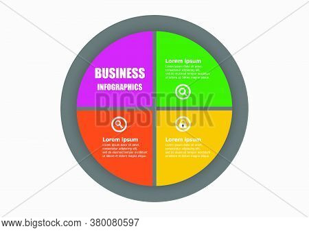The Circle Vector Design Template For Illustration. Planning Triangle Design Business Infographic Te