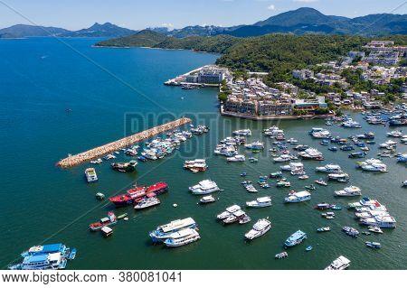 Sai kung, Hong Kong 24 July 2020: Beautiful sea landscape in Sai Kung of Hong Kong