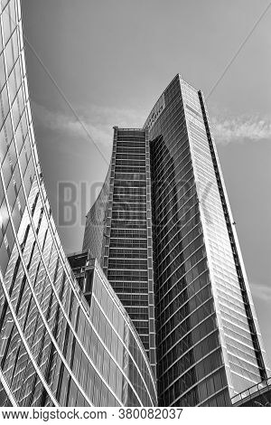 Futuristic, Modern Palazzo Lombardia, Lombardy Palace Is The Main Seat Of The Government Of Lombardy