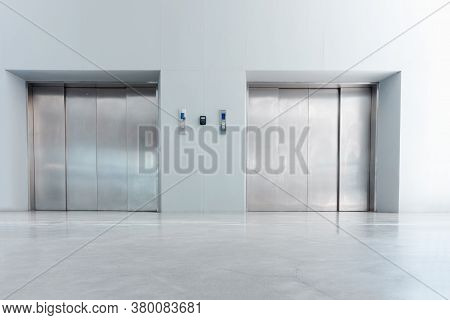 Modern Elevator And Interior Decoration Of Lobby Entrance Flooring, Steel Door Accessibility Gate El