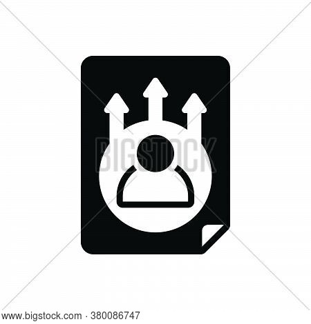 Black Solid Icon For Career-opportunity Career Opportunity Chance Eventuality Occasion Convenience M