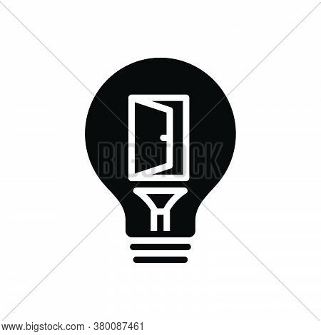 Black Solid Icon For Opportunity Convenience Eventuality Occasion  Career Chance Motivation Success
