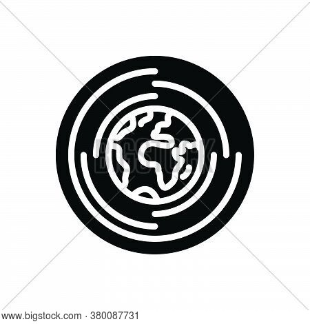 Black Solid Icon For Global-research Global Research Discovery Exploration Geography Worldwide Earth