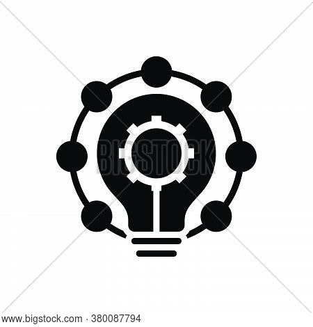 Black Solid Icon For Innovation Modernization Novelty  Newness Novation Recency Creativity Change Re
