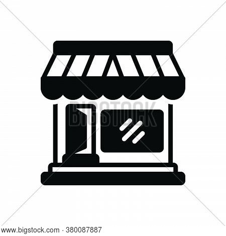 Black Solid Icon For Market-store Market Store Merchandise Vend Stock Boutique Commercial Supermarke