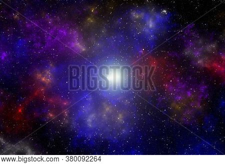 Cosmic Art Background. Planets And Galaxy, Science Fiction Wallpaper. Beauty Of Deep Space. Billions