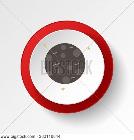 Mercury Colored Button Icon. Element Of Space Illustration. Signs And Symbols Icon Can Be Used For W