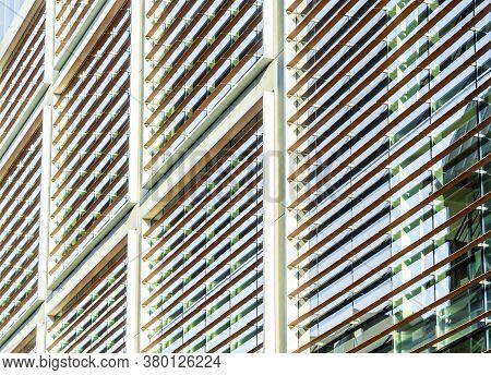 June 2020. London. Office Windows In Shoreditch, London, England Uk Europe