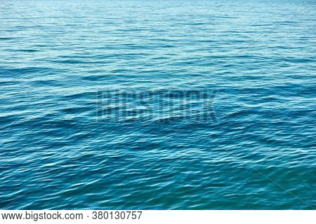 Blue rippled water surface. Natural abstract background