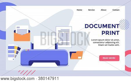 Document Print Machine Print Campaign For Web Website Home Homepage Landing Page Template Banner Wit