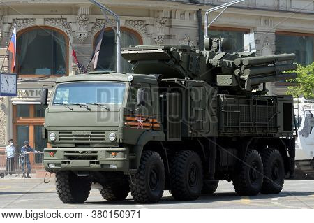Moscow, Russia - June 20, 2020:anti-aircraft Missile And Gun System