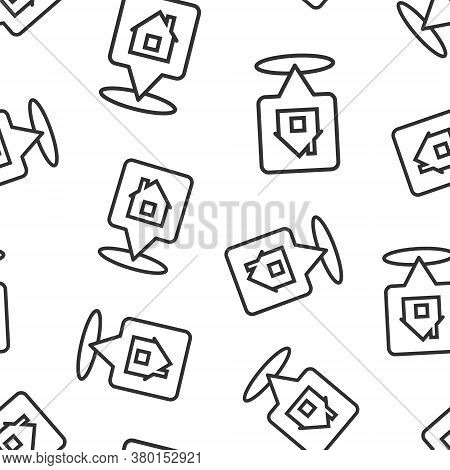 Home Pin Icon In Flat Style. House Navigation Vector Illustration On White Isolated Background. Loca