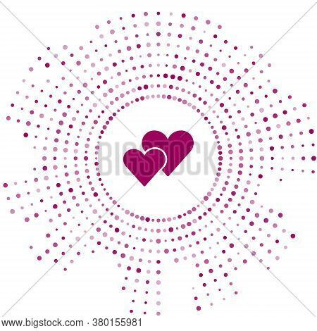Purple Heart Icon Isolated On White Background. Romantic Symbol Linked, Join, Passion And Wedding. V