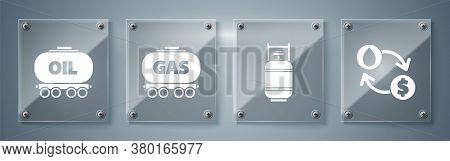 Set Oil Exchange, Water Transfer, Convert, Propane Gas Tank, Gas Railway Cistern And Oil Railway Cis