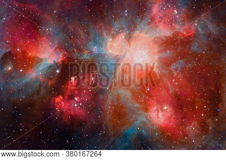 Outer Space Art. Starfield. Awesome Nebulae. Elements Of This Image Furnished By Nasa.