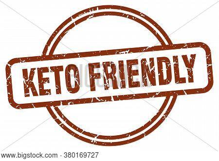 Keto Friendly Grunge Stamp. Keto Friendly Round Vintage Stamp