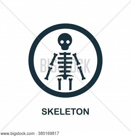 Skeleton Icon. Simple Element From Internal Organs Collection. Creative Skeleton Icon For Web Design
