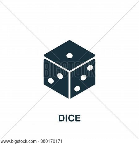 Dice Icon. Simple Element From Casino Collection. Creative Dice Icon For Web Design, Templates, Info