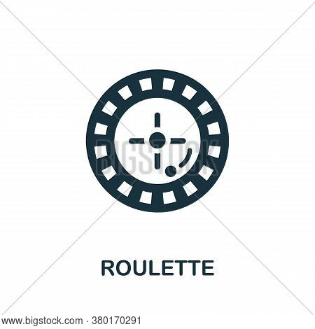 Roulette Icon. Simple Element From Casino Collection. Creative Roulette Icon For Web Design, Templat